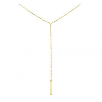 Lange ketting met hanger goud