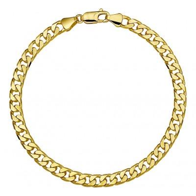 Luxe schakelarmband van goud gourmetschakels