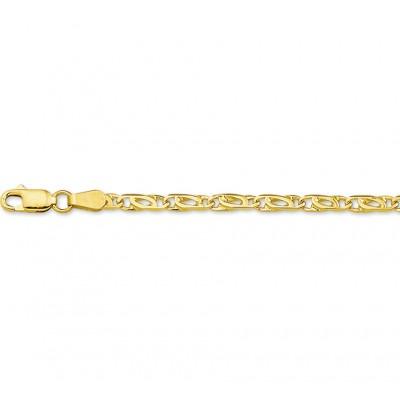 Luxe schakelarmband van goud valkenoog