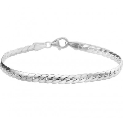 Luxe schakelarmband van zilver