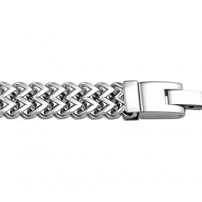 Luxe stalen schakelarmband fantasie schakel 10 mm