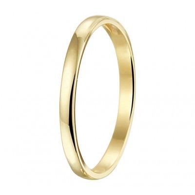 Mooie aanschuifring goud 2 mm breed