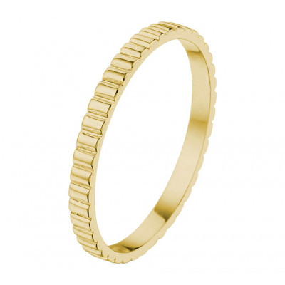 Mooie aanschuifring goud van 2 mm
