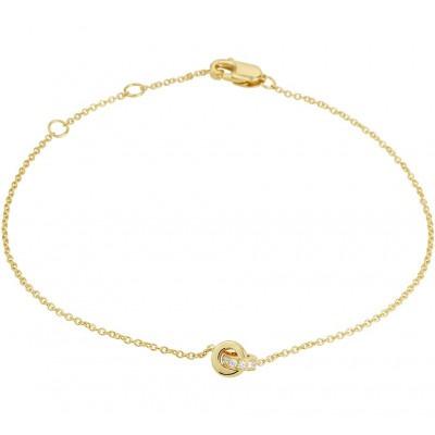 Mooie edelsteen armband met diamant 15-18 cm