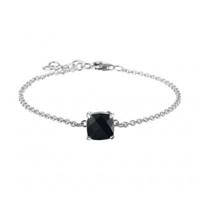 Mooie edelsteen armband met onyx 16-18 cm