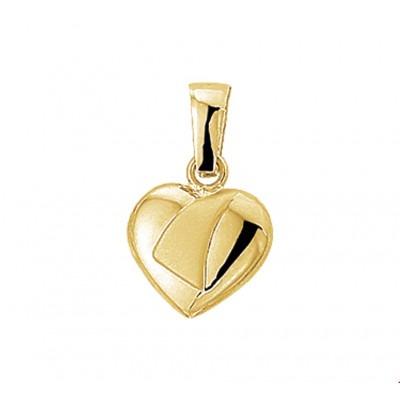 Mooie gouden hartjes hanger 10 mm