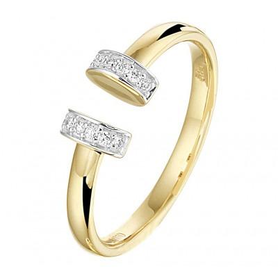 Mooie gouden ring 14 krt met diamant