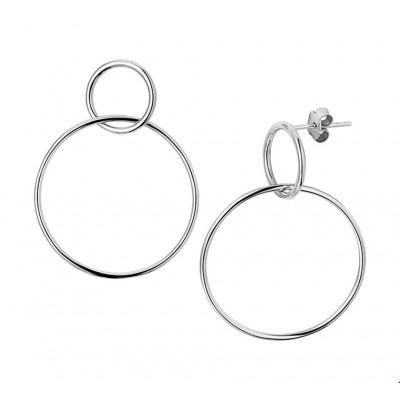 Mooie oorbellen zilver 28 mm breed
