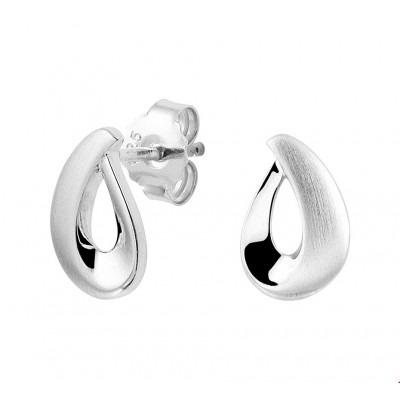 Mooie oorbellen zilver 8 mm breed