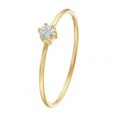 Mooie ring van goud 14 karaat met zirkonia