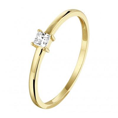 Mooie ring van goud met zirkonia