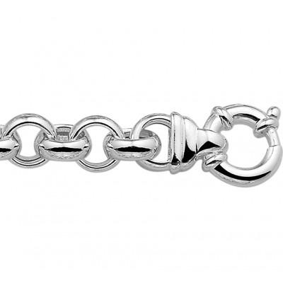 Mooie schakelarmband van zilver jasseron 11 mm