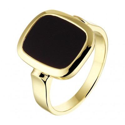 Onyx zegelring heren goud