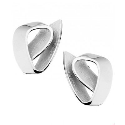 Oorknopjes van zilver 20 mm hoog