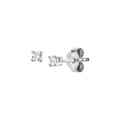Paar oorknoppen incl zirkonia in het zilver