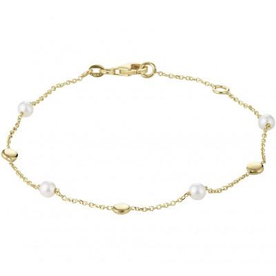 Parel armband goud