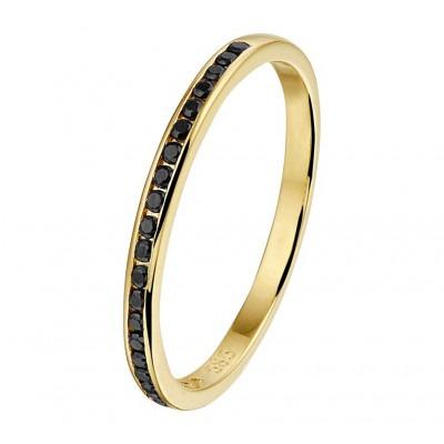 Prachtige aanschuifring goud van 2 mm met steen