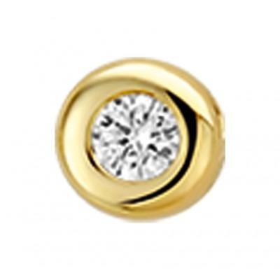 Prachtige diamant hanger in het goud