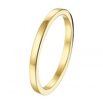 Prachtige gouden aanschuifring van 2 mm