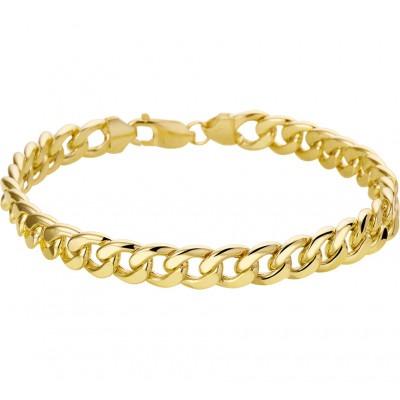 Prachtige gouden schakelarmband gourmetschakel 8 mm