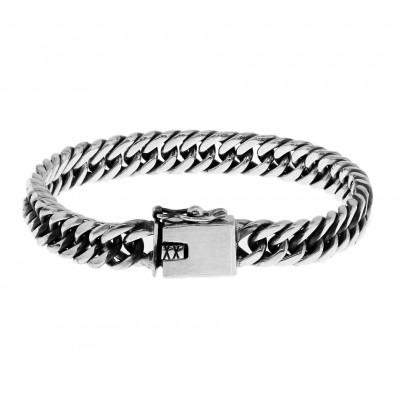 Prachtige zilveren schakelarmband gourmetschakel 8 mm