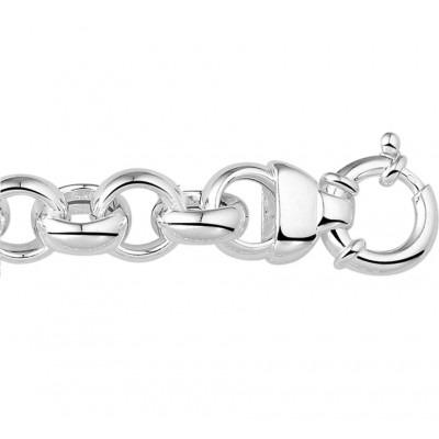 Prachtige zilveren schakelarmband jasseron 13 mm