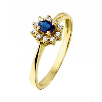 Ring edelsteen goud saffier