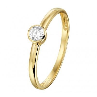 Ring goud 14 krt met zirkonia
