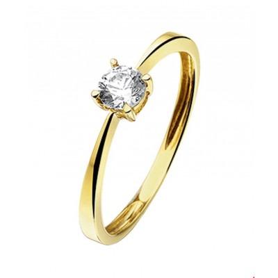 Ring van goud met zirkonia