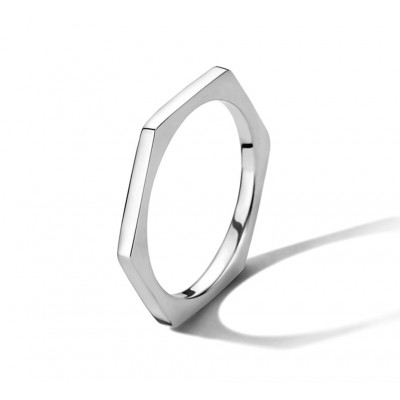 Ring zilver zeshoek
