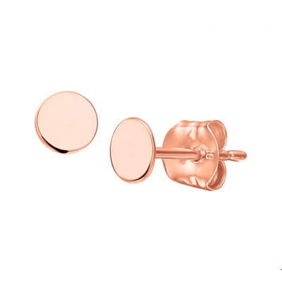 Ronde oorbellen rosé goud
