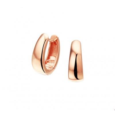 Rosé gouden creolen 12 mm x 4,5 mm