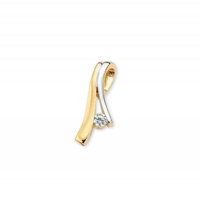 Sierlijke bicolor hanger met zirkonia