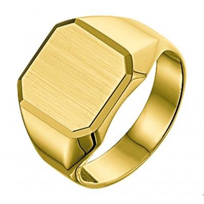 Stijlvolle 14 krt gouden zegelring heren massief