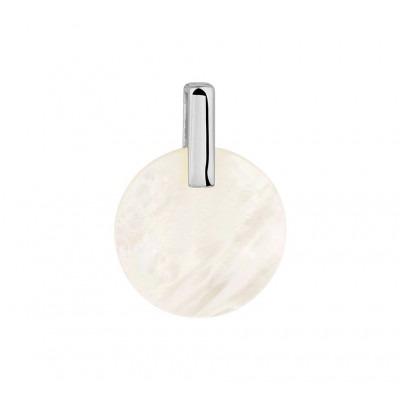 Stijlvolle edelsteen hanger met parelmoer in het zilver