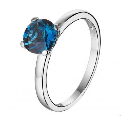 Topaas edelsteen ring witgoud