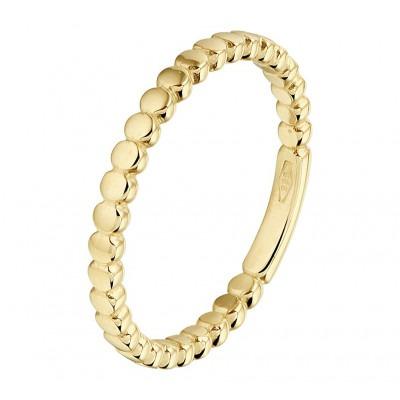 Trendy gouden aanschuifring 2 mm