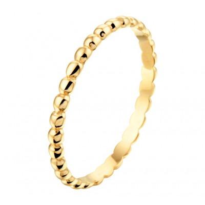 Trendy gouden aanschuifring van 2 mm