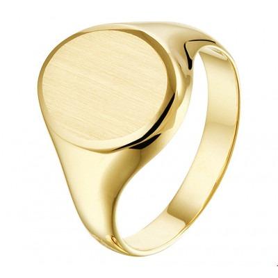 Trendy gouden zegelring dames
