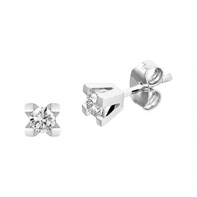Witgouden oorbellen diamant
