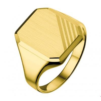 Zegelring heren goud 14 krt massief