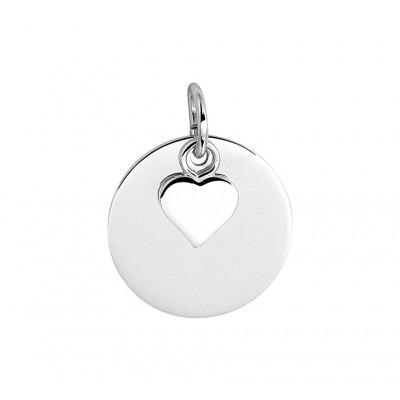 Zilveren hanger hartje 14 mm diameter