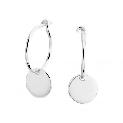 Zilveren oorbellen met hanger rondje