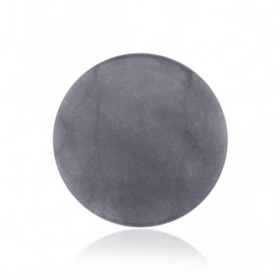 """My iMenso dyed jade """"lilac grey"""" gemstone 33-1281"""