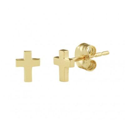 Oorknoppen goud kruisje