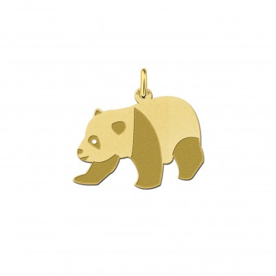 Gouden panda hanger
