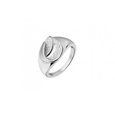 Ring van zilver mat en poli