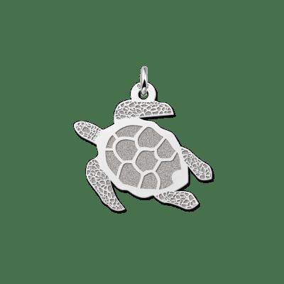 Schildpad hanger van zilver