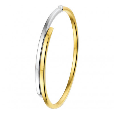 Slaven armband bicolor goud 60mm