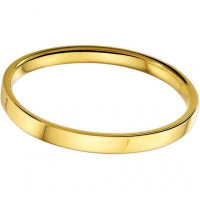 Slavenarmband goud vlak 6 mm